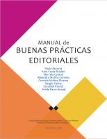Cubierta para Manual de Buenas Prácticas Editoriales